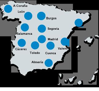 mapa de españa con zonas cchoreca.com
